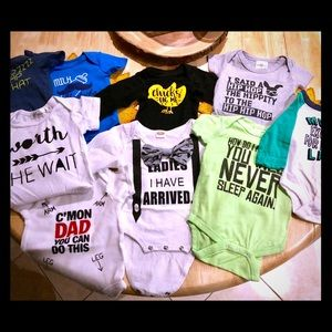 Infants funny phrases shirts